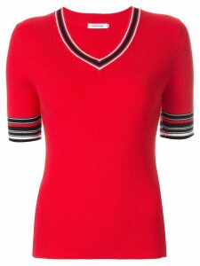 Guild Prime contrast short-sleeve sweater - Red
