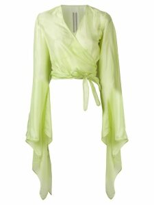 Rick Owens bat sleeve blouse - Green