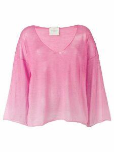Fine Edge sheer top - Pink