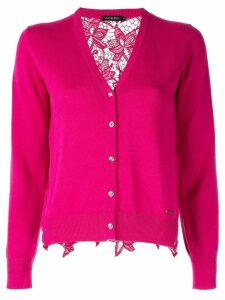 Loveless crochet back cardigan - Pink