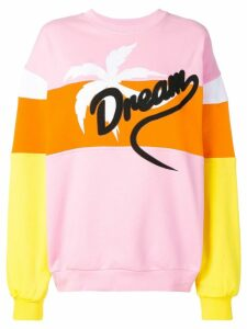 MSGM Dream embroidered sweatshirt - PINK