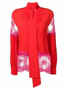 MSGM pussybow blouse - Red