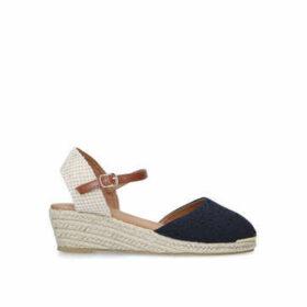 Miss KG Dea - Navy Espadrille Wedge Sandals