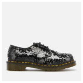 Dr. Martens Women's 1461 Sequin 3-Eye Shoes - Black/Silver - UK 4 - Black