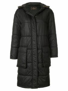 Fendi Pre-Owned long sleeve coat jacket - Black