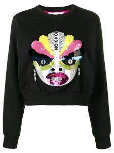 No Ka' Oi embellished cropped sweatshirt - Black