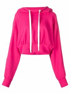 No Ka' Oi sport cropped hoodie - Pink