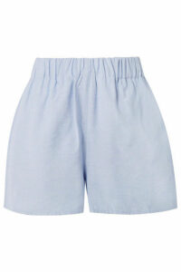 Tibi - Chambray Shorts - Sky blue