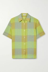 Michael Kors Collection - Striped Ribbed-knit Top - Pink