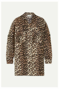 GANNI - Leopard-print Linen And Silk-blend Shirt - Leopard print