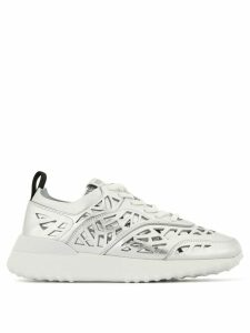 Tod's Stencil cut sneakers - Silver