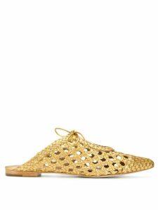 Ulla Johnson gold Belen sandals