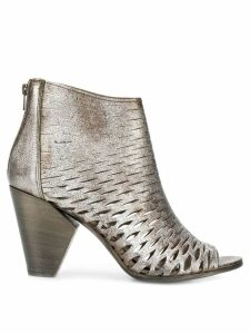Strategia perforated ankle boots - Grey
