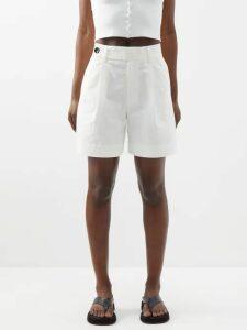 Pallas X Claire Thomson-jonville - Single Breasted Pinstripe Wool Jacket - Womens - Navy