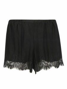 Gold Hawk Lace Hem Shorts