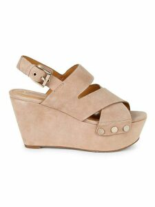 Bianka Suede Platform Wedge Sandals
