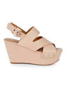 Bianka Leather Platform Wedge Sandals
