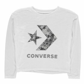 Converse Oversized Sparkly T Shirt - White