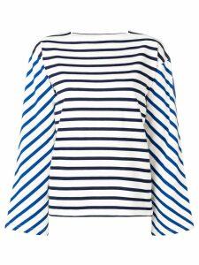Moncler striped pattern jumper - White