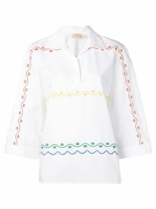 Tory Burch embroidered blouse - White