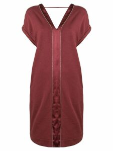 Brunello Cucinelli short V-neck dress - Red