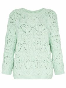 Vika Gazinskaya crochet wool knit jumper - Green