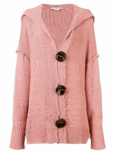 Stella McCartney hooded oversized cardigan - Pink