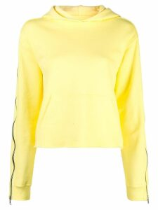 RtA contrast stripe hoodie - Yellow