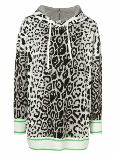 Pinko leopard pattern hoodie - White
