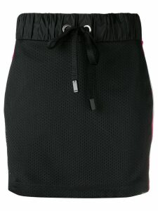 No Ka' Oi perforated mini skirt - Black