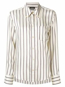 Isabel Marant striped button shirt - White