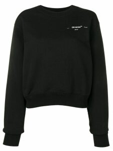 Off-White logo chest sweatshirt - Black