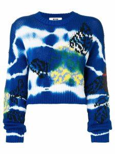 MSGM tie-dye patterned jumper - Blue