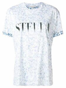 Stella McCartney logo floral T-shirt - Blue