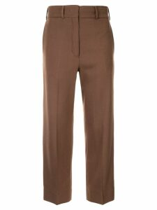 Ports 1961 cropped straight-leg trousers - Brown