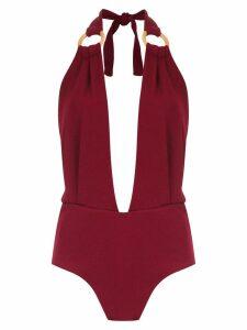 Framed Malibu bodysuit - Red