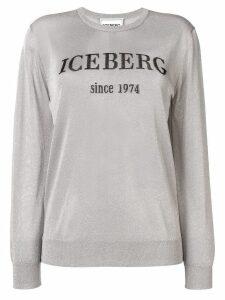 Iceberg glitter logo jumper - SILVER