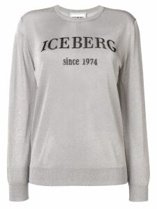 Iceberg glitter logo sweater - Silver