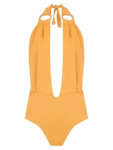 Framed Malibu bodysuit - Yellow