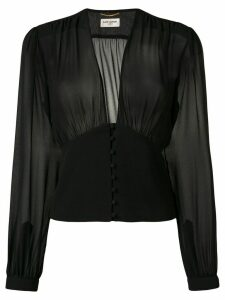 Saint Laurent sheer blouse - Black