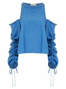 Framed Athena long sleeved top - Blue