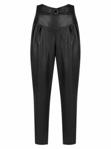 Framed Tulip cropped pants - Black