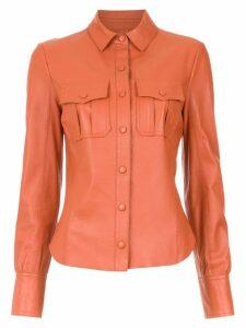 Nk leather shirt - Orange