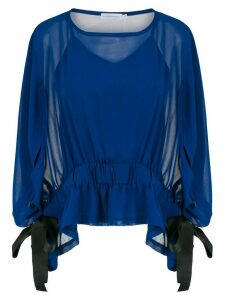 Mara Mac ruffled blouse - Blue