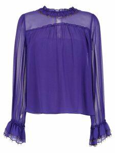 Nk long sleeved silk top - PURPLE