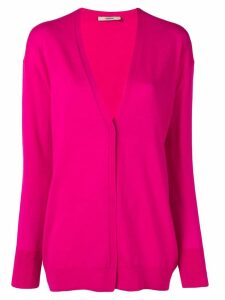 Odeeh concealed button cardigan - PINK