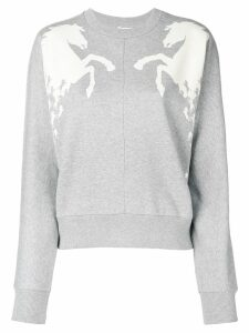 Chloé horse detail sweatshirt - Grey