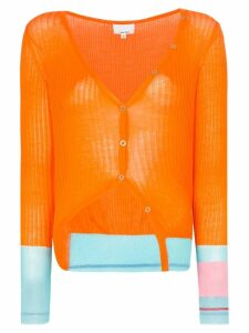 i-am-chen contrast-cuff cardigan - ORANGE