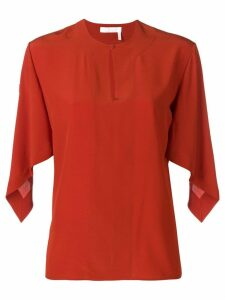Chloé draped sleeve top - ORANGE