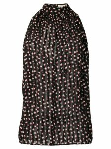 Saint Laurent sleeveless star print blouse - Black